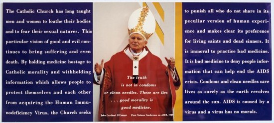 gran fury.pope. the catholic churche